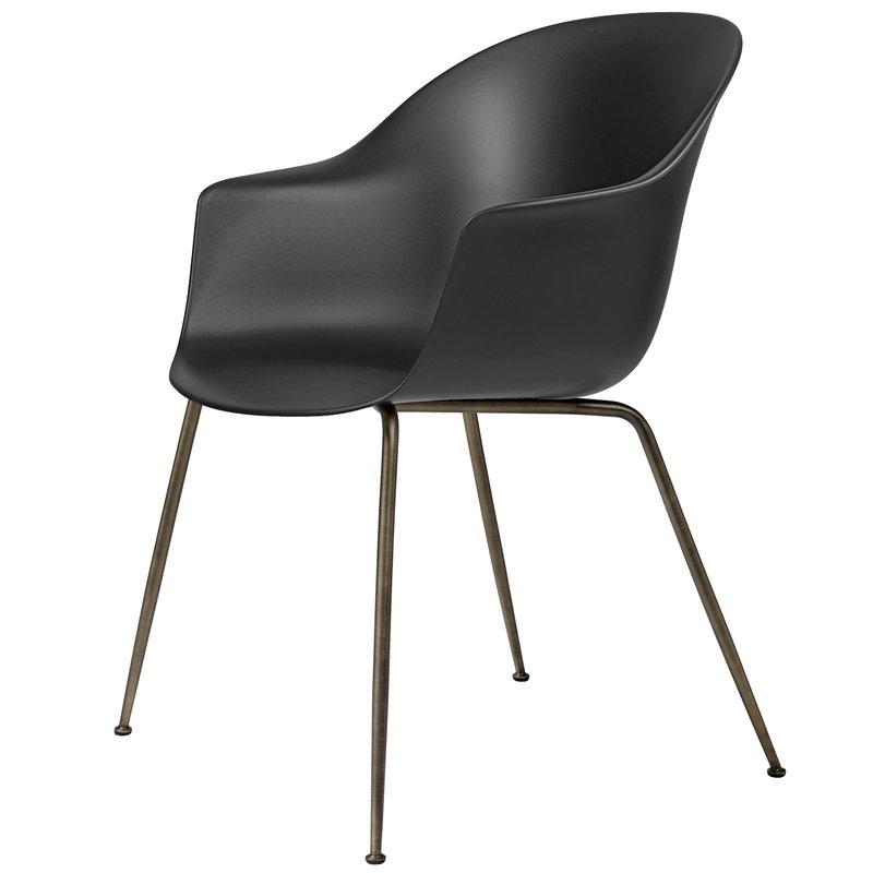 Gubi Bat Chair Black Antique Br