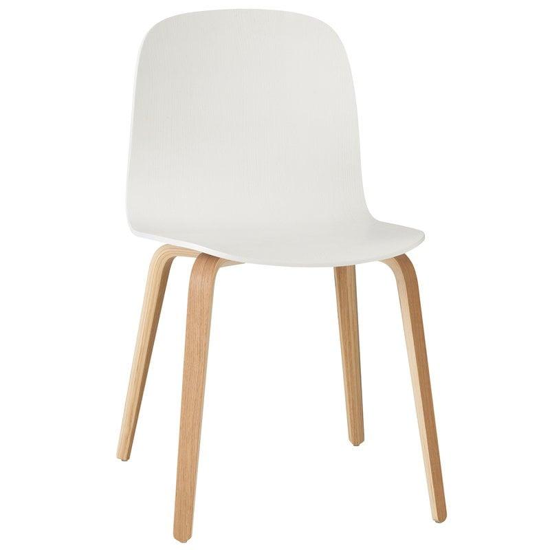 Muuto Visu tuoli, puujalusta, valkoinen-luonnonväri
