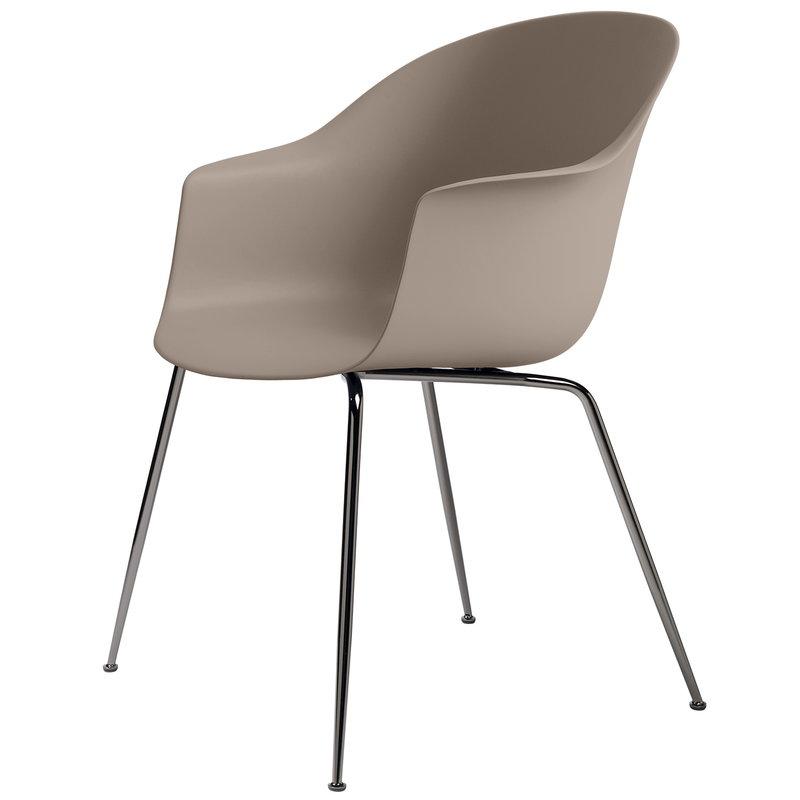 Gubi Bat chair, new beige - black chrome base