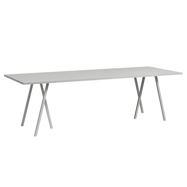 Hay Loop Stand pöytä, 200 cm, harmaa