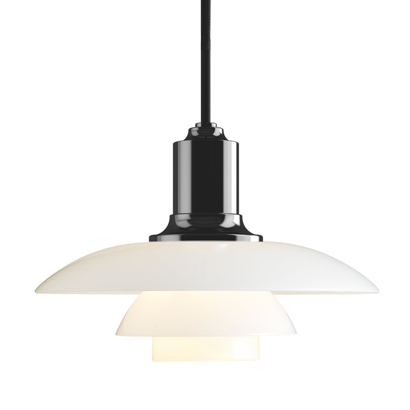 Louis Poulsen PH 2/1 pendant, metallised black