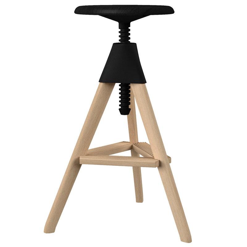Magis Tom bar stool, beech - black