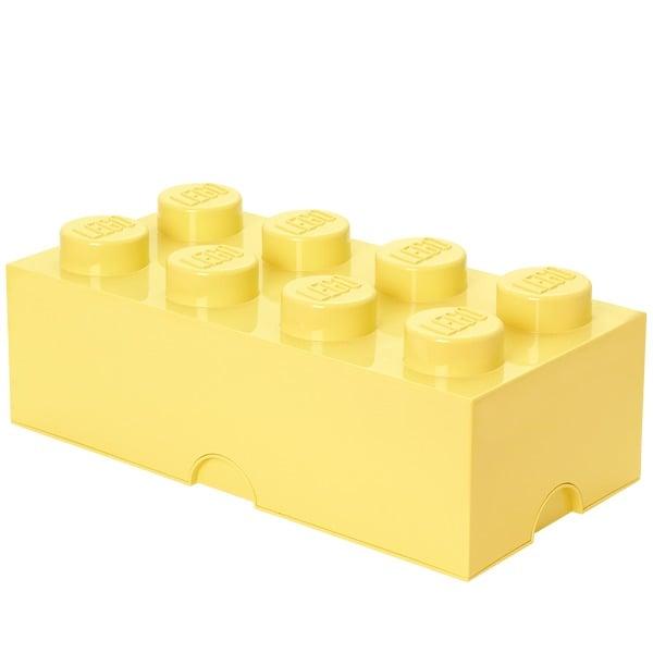 Room Copenhagen Lego säilytyslaatikko 8, pastellinkeltainen