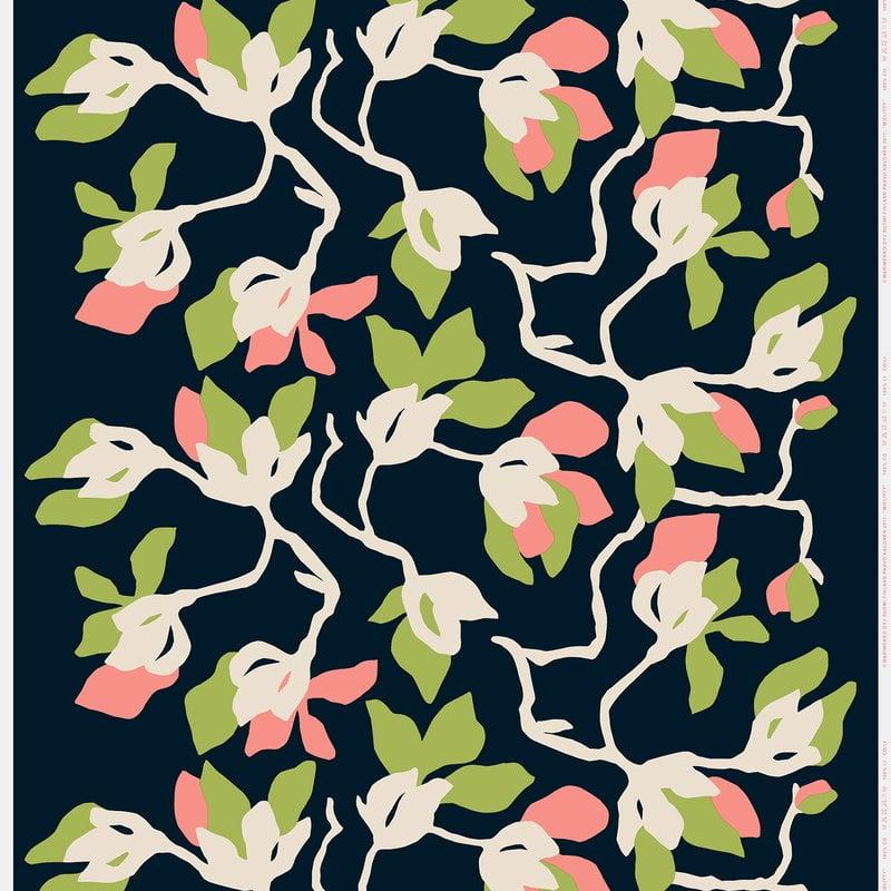 Marimekko Mielitty cotton/linen fabric, dark blue | Finnish