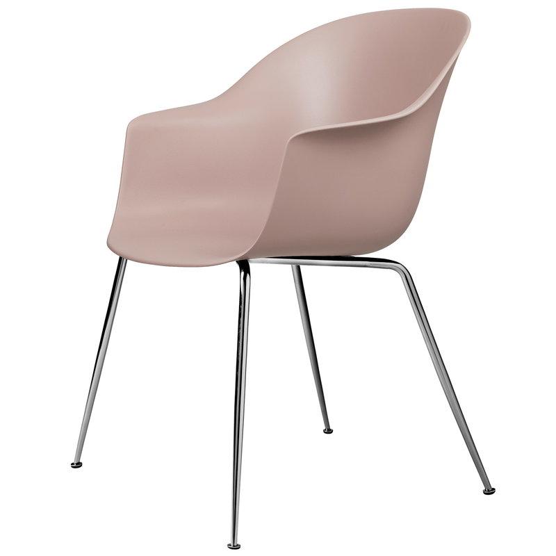 Gubi Bat tuoli, sweet pink - kromijalat