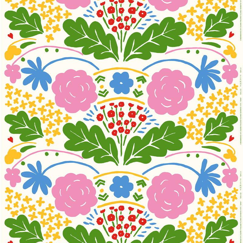 Marimekko Tessuto Onni, multicolore