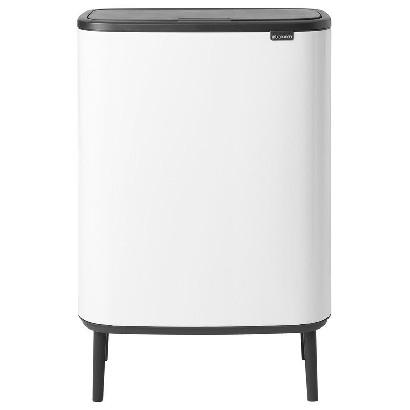 Brabantia Bo Touch Bin Hi roska-astia, 2 x 30L, valkoinen