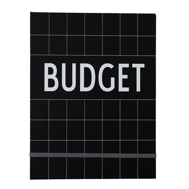 Design Letters Budget Book, musta