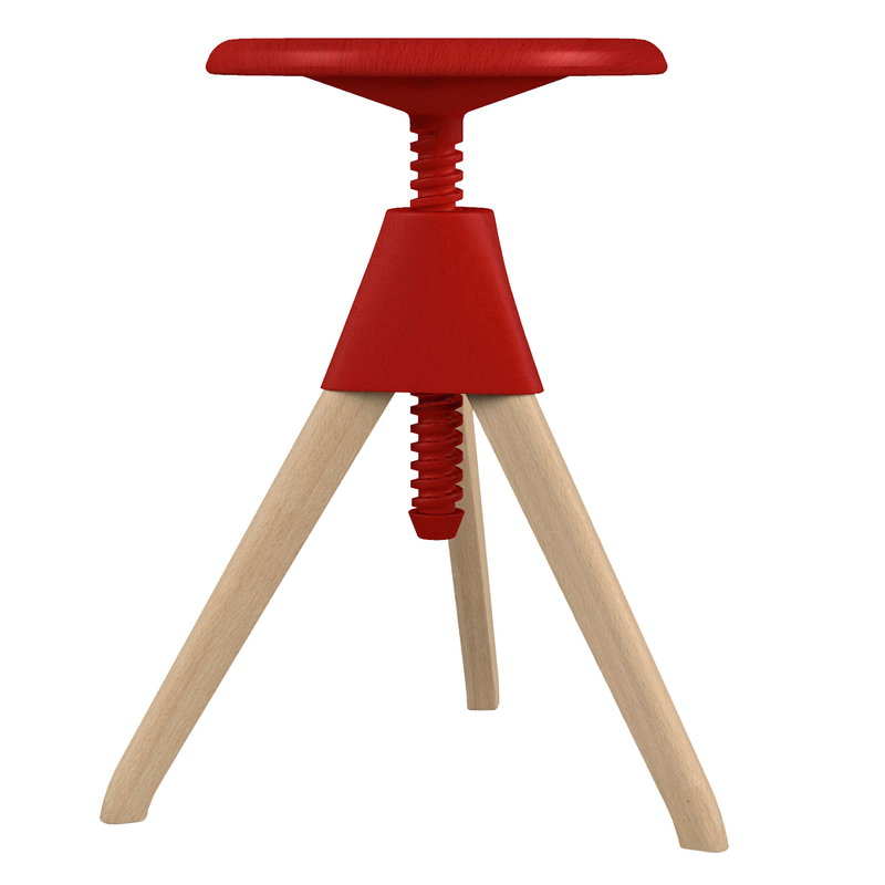 Magis Jerry stool, beech - red