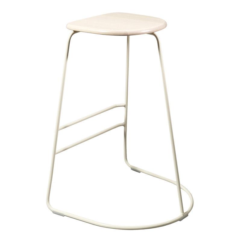 Minus Tio Citizen Ghost bar stool 65 cm,  white - birch