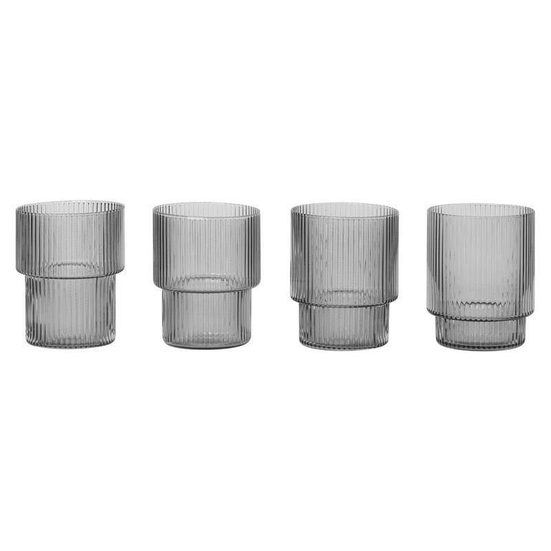 Ferm Living Bicchieri Ripple, 4 pz - Kopio
