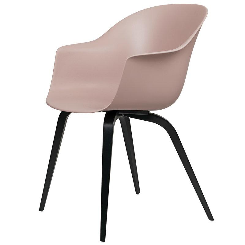 Gubi Bat tuoli, sweet pink - mustat pyökkijalat