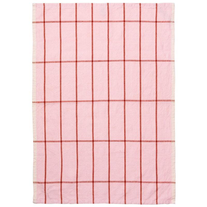 Ferm Living Hale keittiöpyyhe, vaaleanpunainen - ruoste