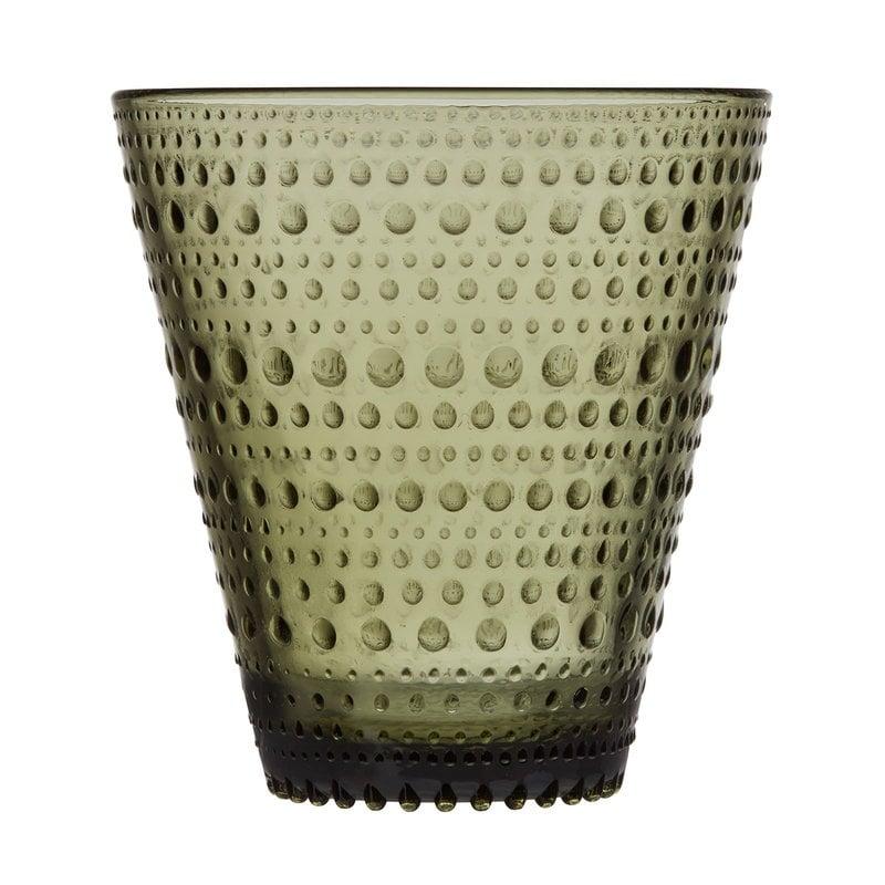 Iittala Bicchiere Kastehelmi 2 pz, verde muschio
