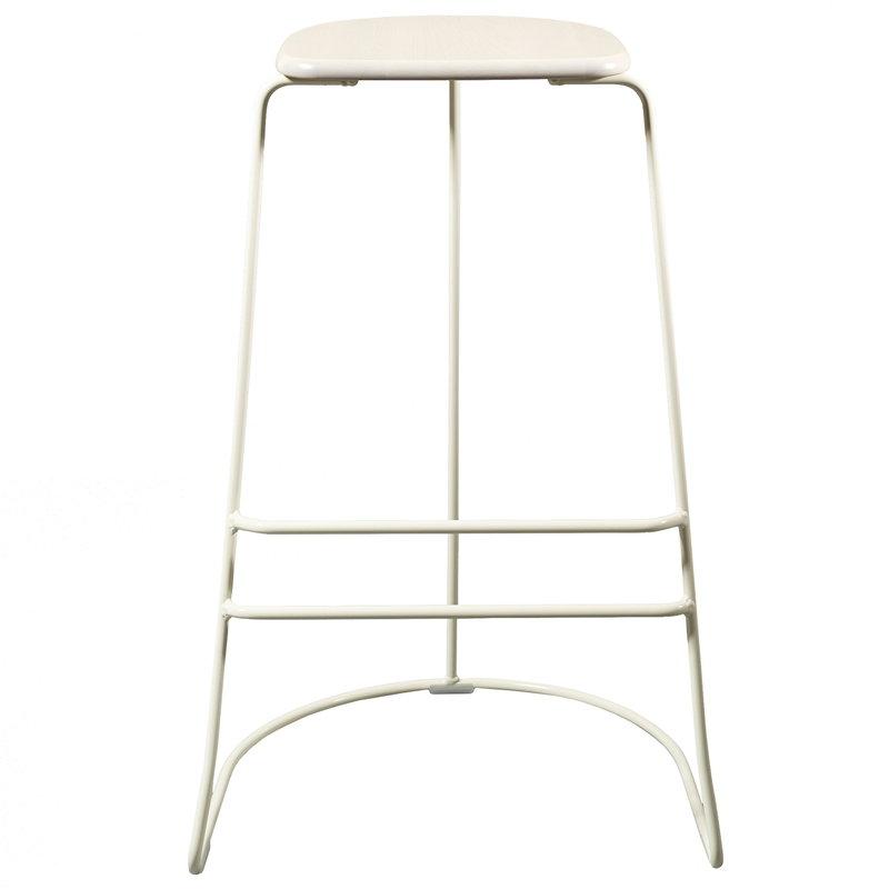 Minus Tio Citizen Ghost bar stool 78 cm,  white - birch