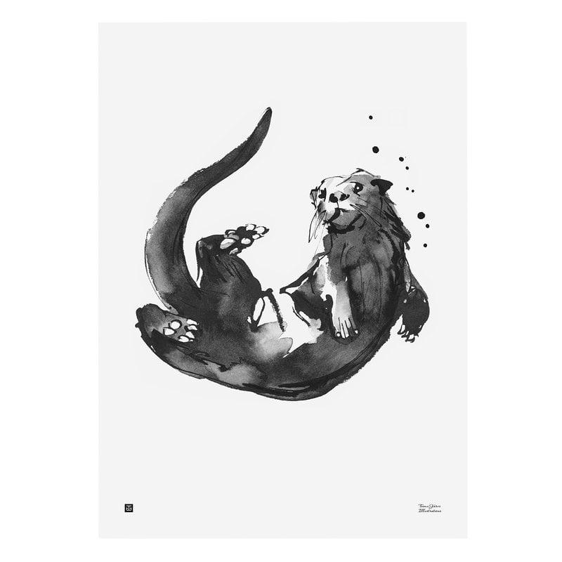 Teemu Järvi Illustrations Otter poster, 50 x 70 cm