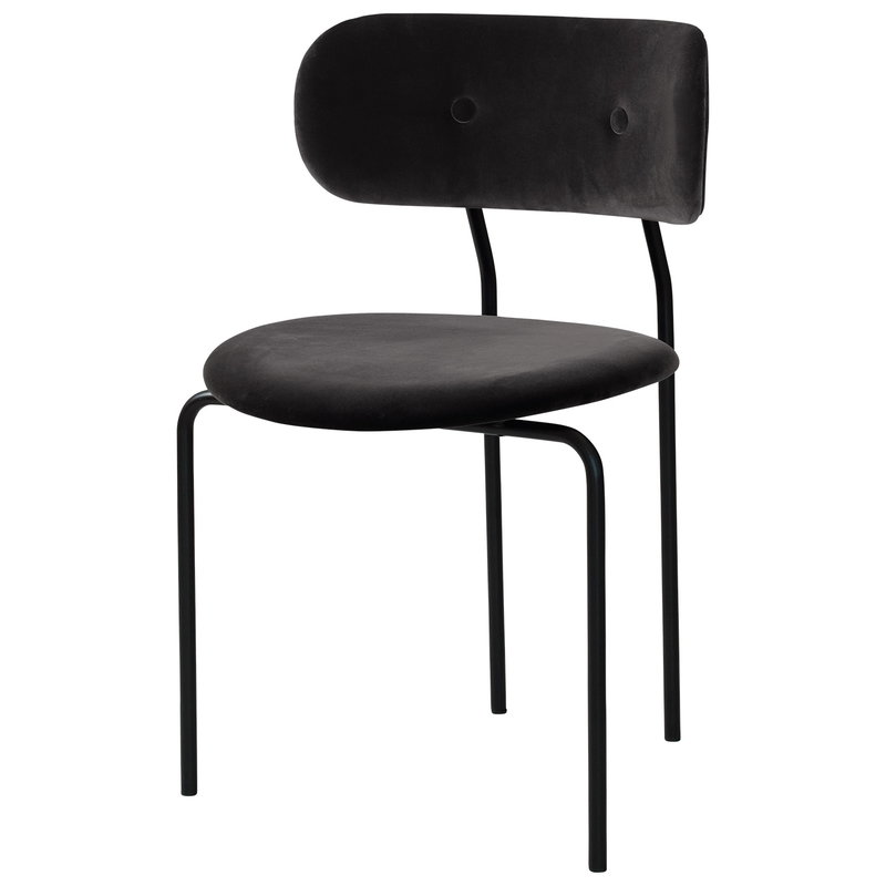 Gubi Coco chair, Velluto 130 - black base