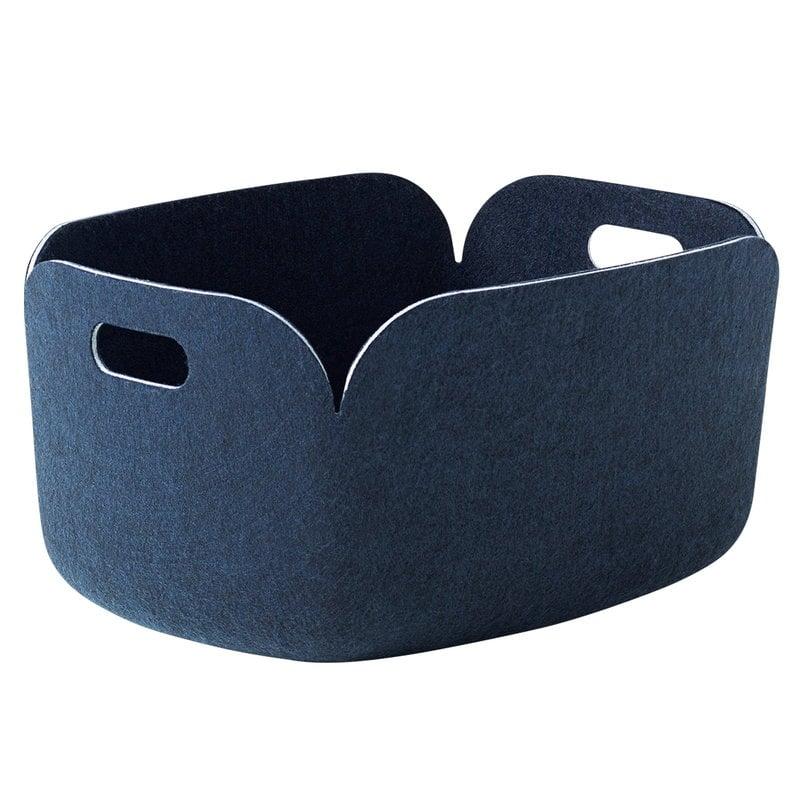 Muuto Restore storage basket, midnight blue