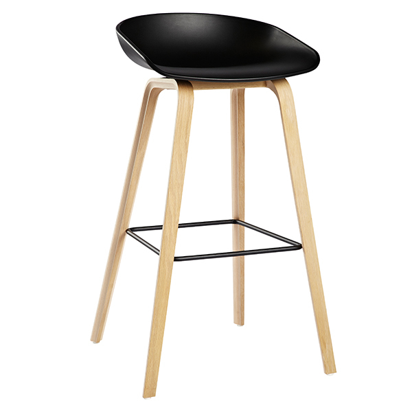Hay About A Stool AAS32, black - soaped oak/black steel
