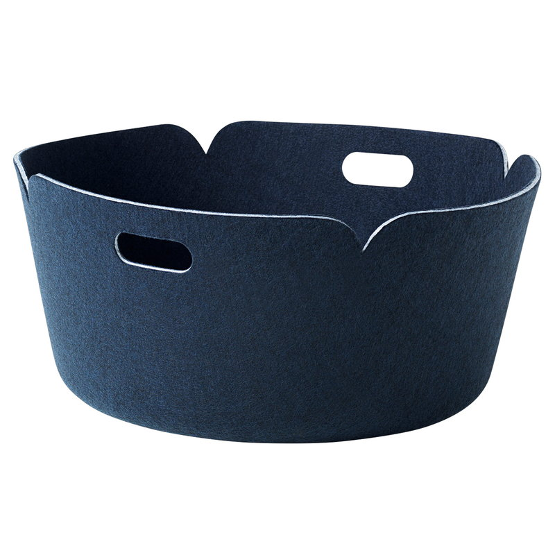 Muuto Restore round basket, midnight blue