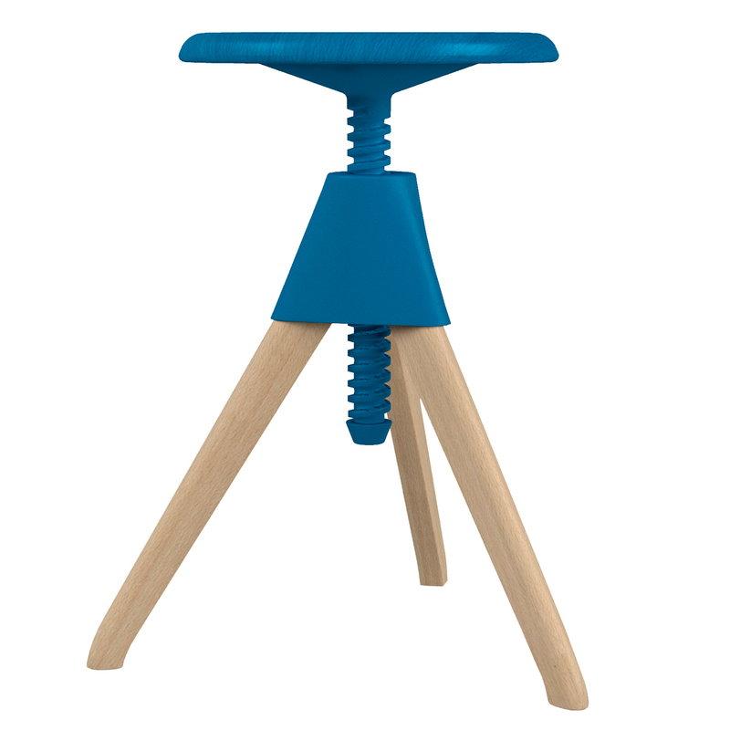 Magis Jerry stool, beech - light blue