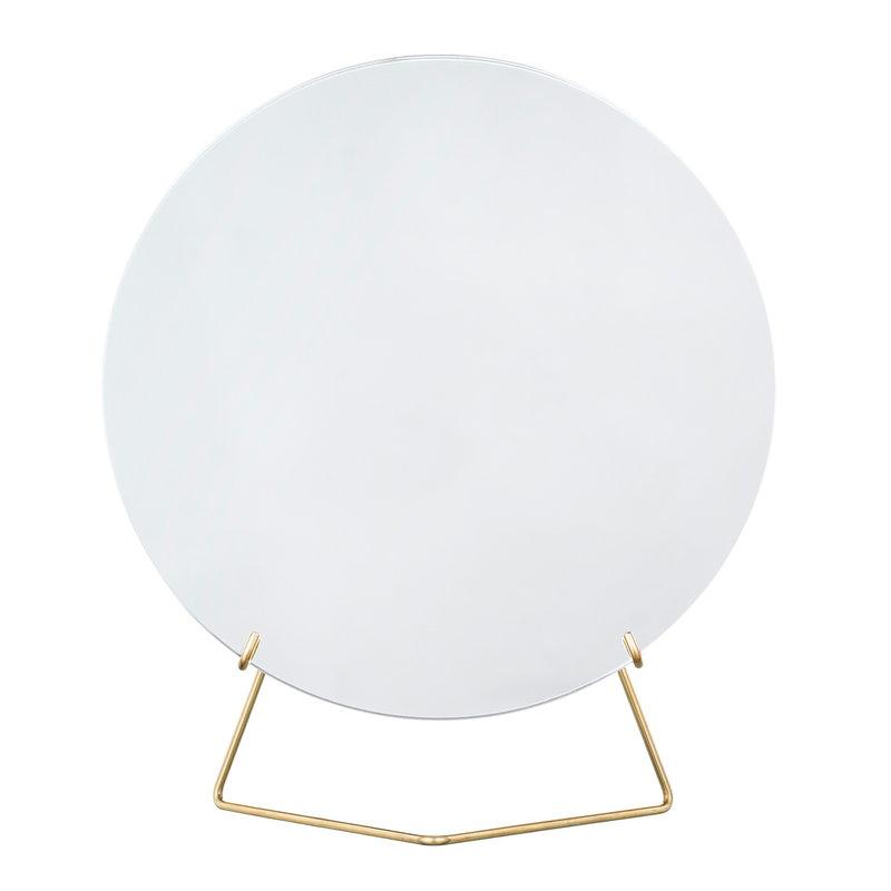 Moebe Specchio da tavolo 20 cm, ottone