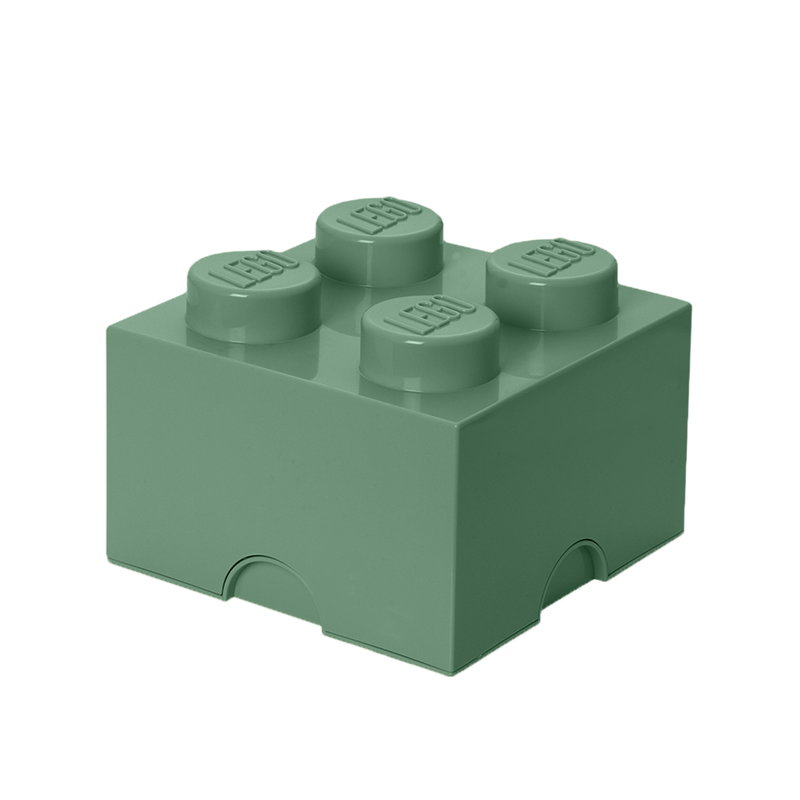Lego Storage Brick 4, sand green