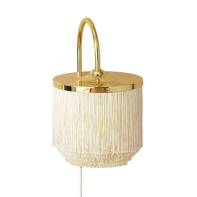 Warm Nordic Fringe wall lamp, cream white