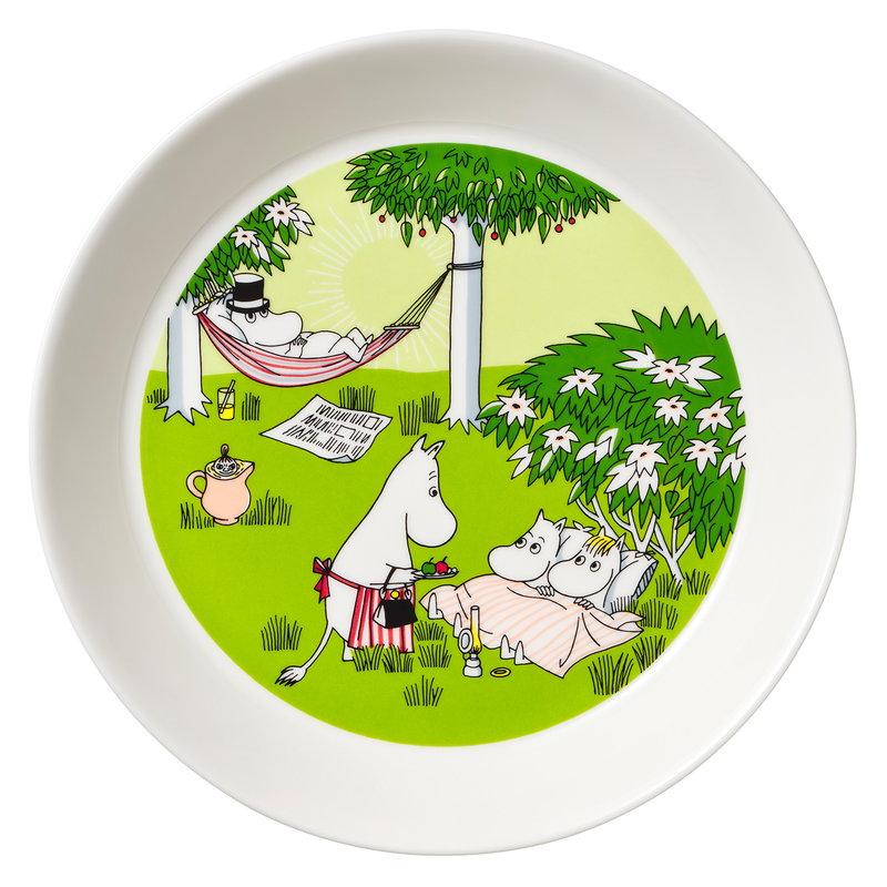 Arabia Moomin plate 19 cm, Relaxing