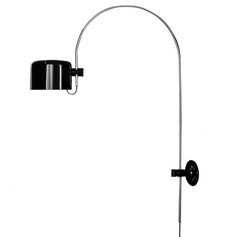 Oluce Coupé 1158 wall lamp, black