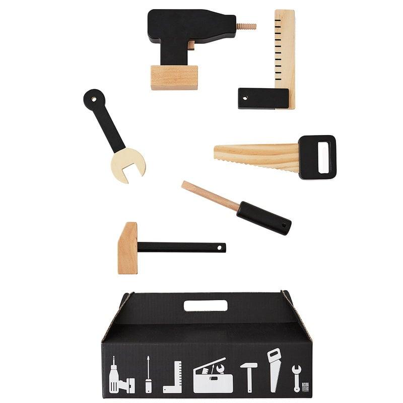 Design Letters Tool School puinen lelusetti, 6 osaa