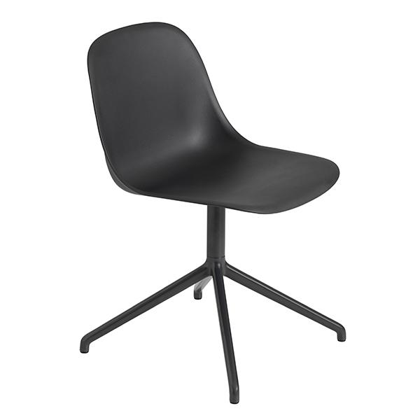 Muuto Fiber tuoli, pyörivä, musta