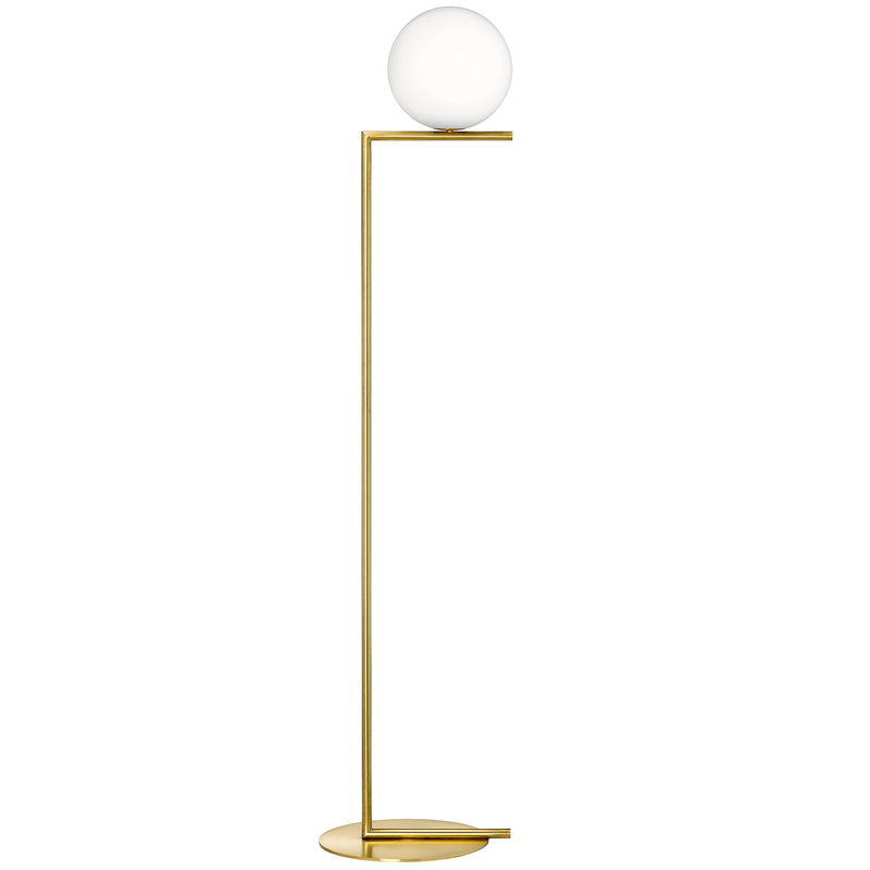 Flos IC F1 floor lamp, brass