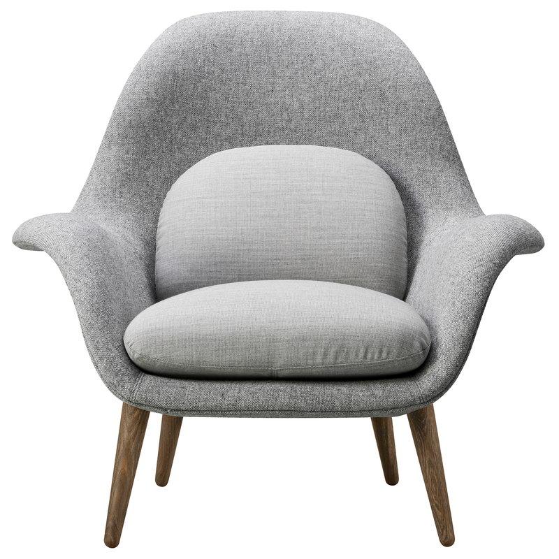 Fredericia Swoon armchair, Hallingdal 130 - smoked oak