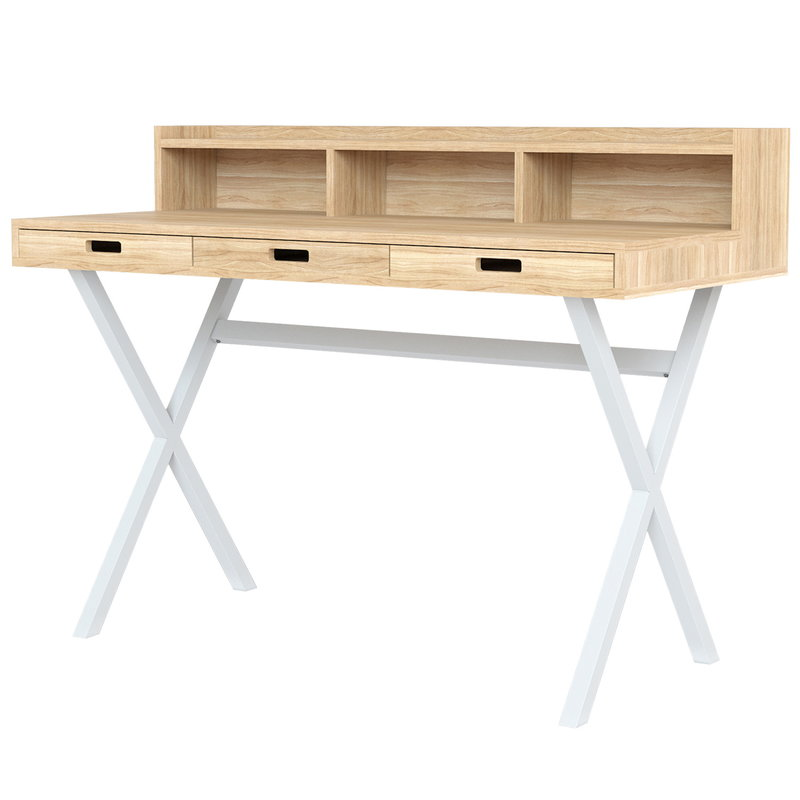 Harto Hyppolite desk, oak - white
