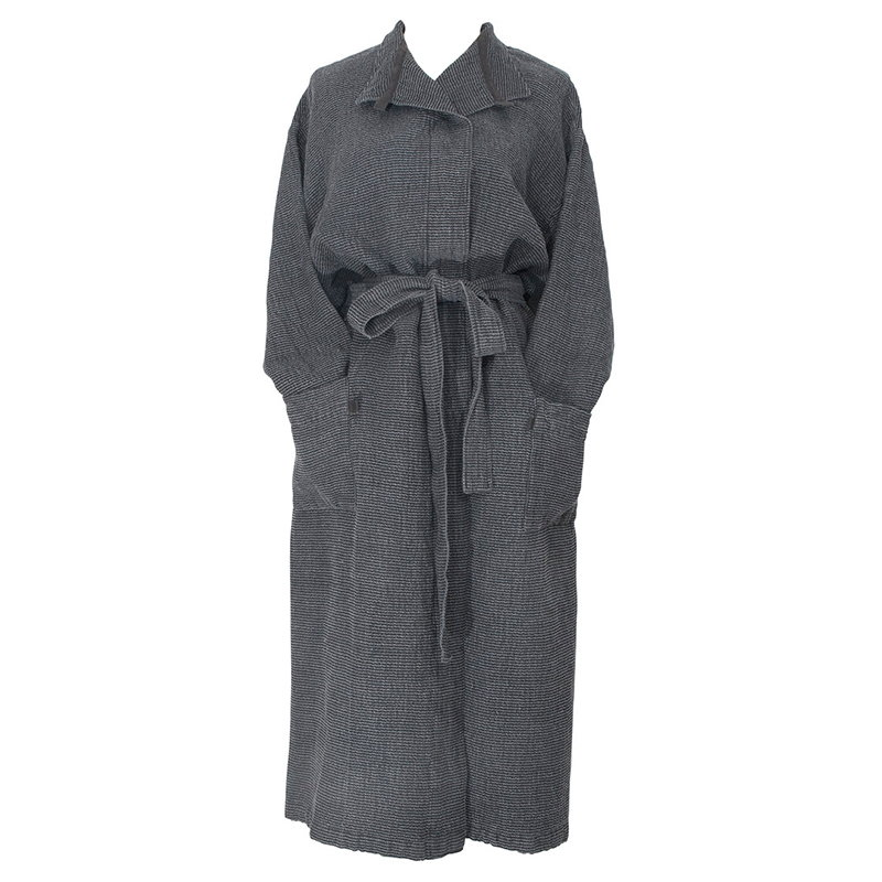 Lapuan Kankurit Terva bathrobe, black-graphite