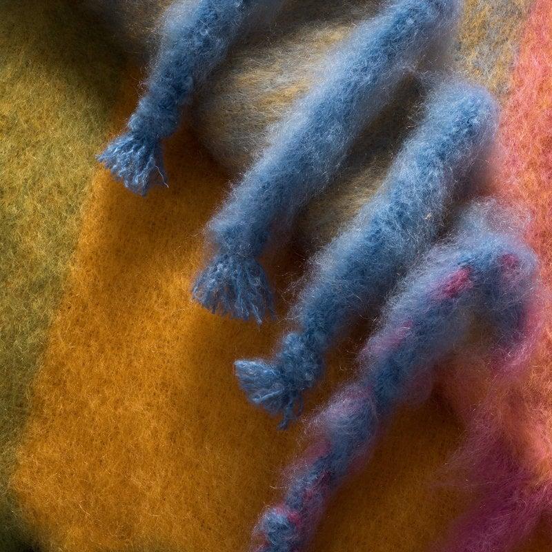 Lena Rewell BonBon mohair blanket 130 x 180 cm