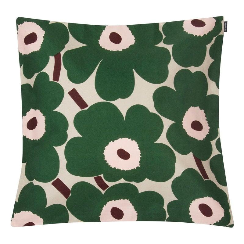 Marimekko Pieni Unikko cushion cover 50 x 50 cm,  beige - green - peach