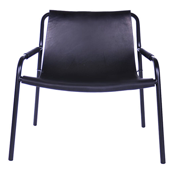 OX Denmarq September chair, black leather