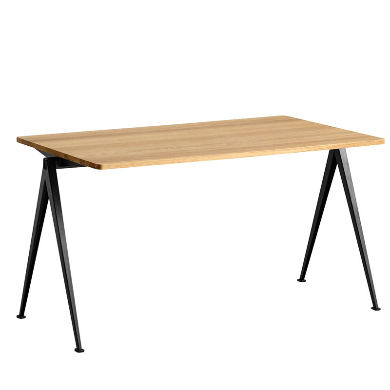 Hay Pyramid table 01, black - lacquered oak