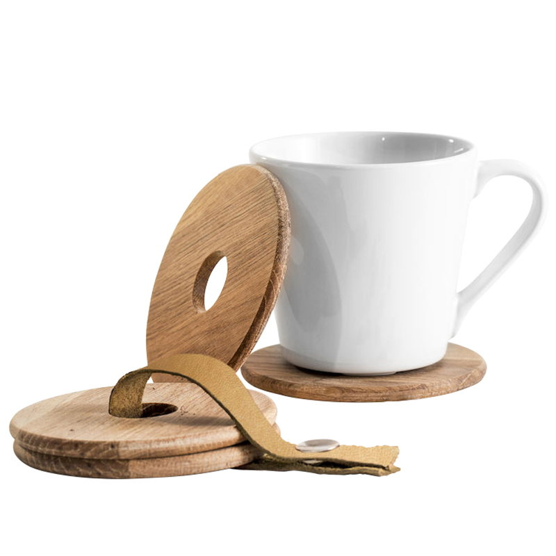 Sagaform Oak coasters, 4 pcs