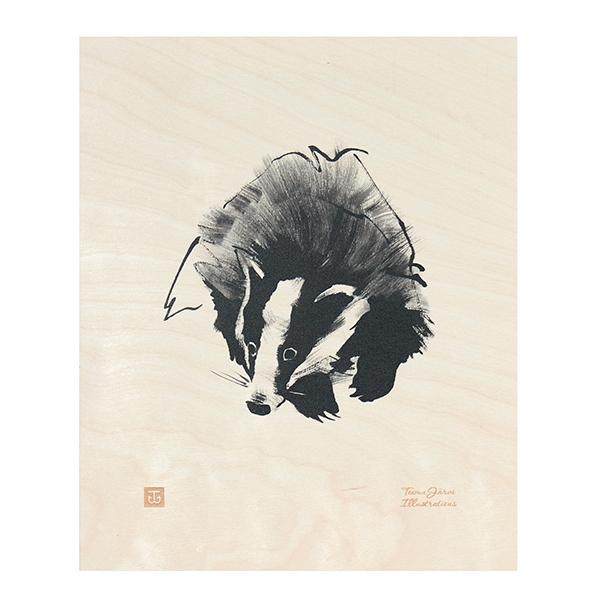Teemu Järvi Illustrations Poster in compensato, Tasso