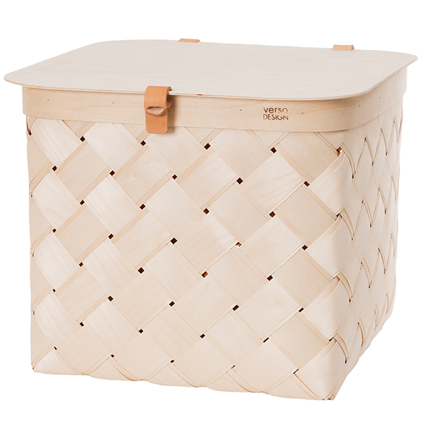 Verso Design Lastu birch basket with lid, L