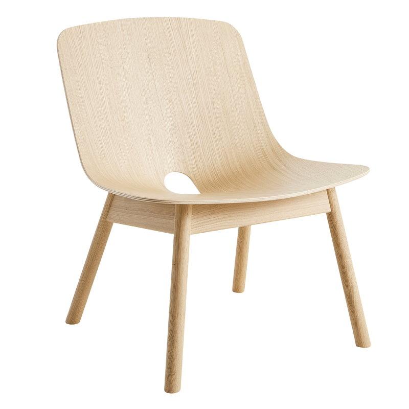 Woud Mono lounge chair, oak