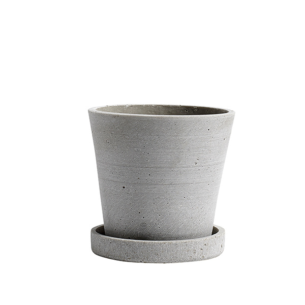 Hay Flowerpot and saucer, S, grey