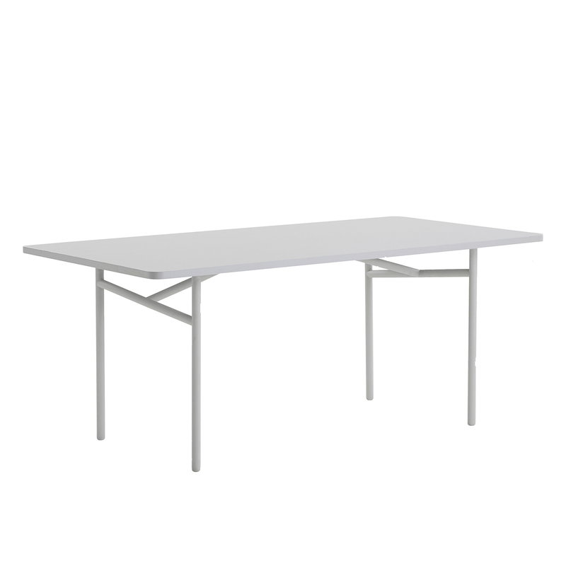 Woud Diagonal dining table 90 x 180 cm, grey
