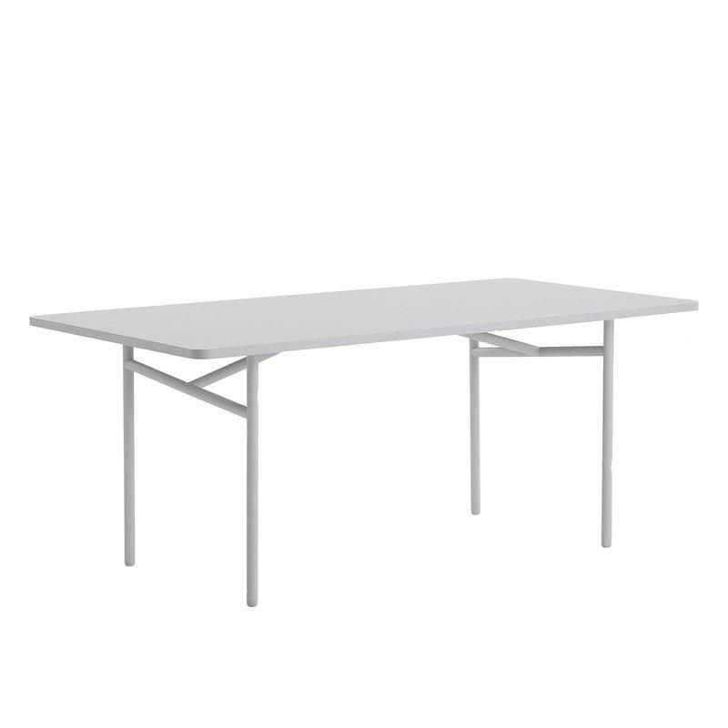 Woud Diagonal ruokapöytä 90 x 180 cm, harmaa
