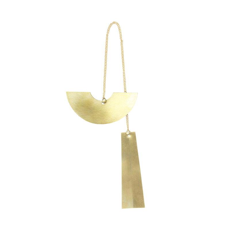 Ferm Living Twin Half Circle ornament, brass
