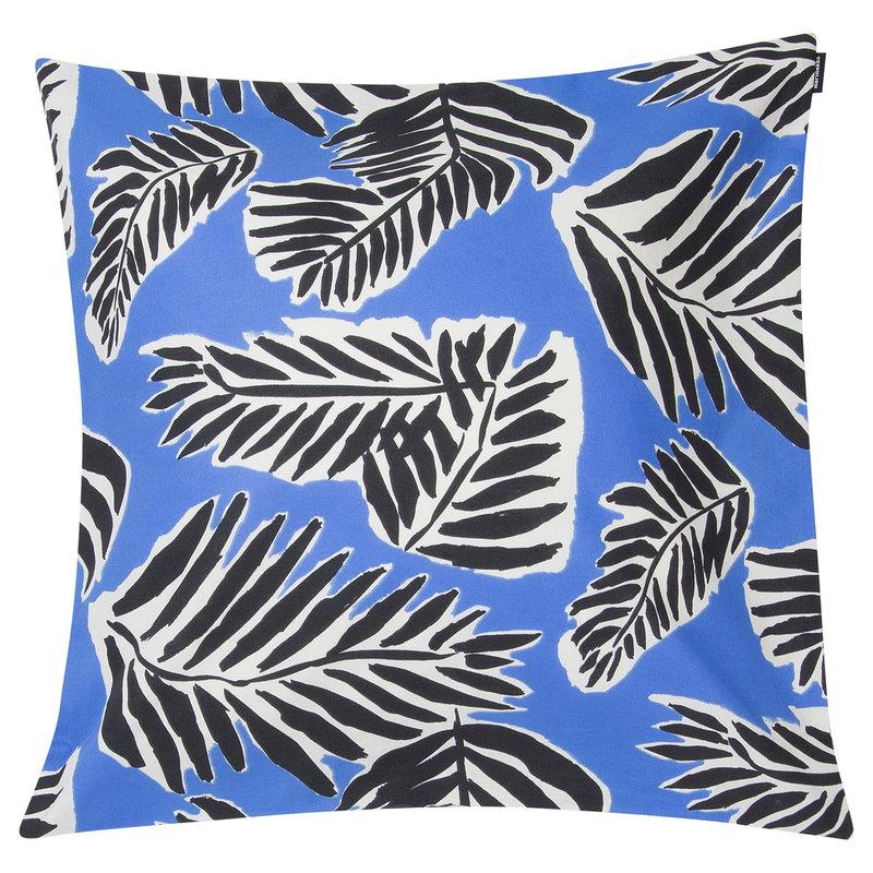 Marimekko Babassu cushion cover 50 x 50 cm, blue - black - off white