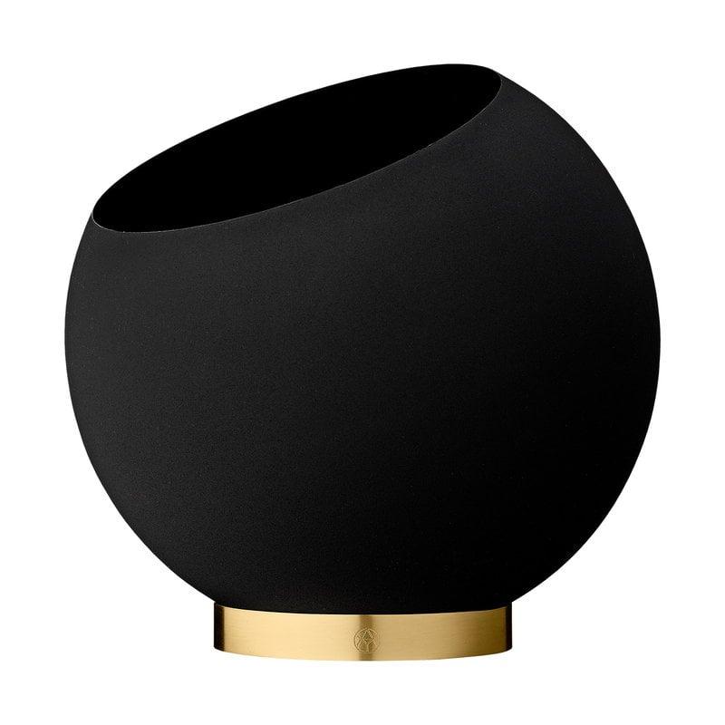 AYTM Globe flower pot, L, black